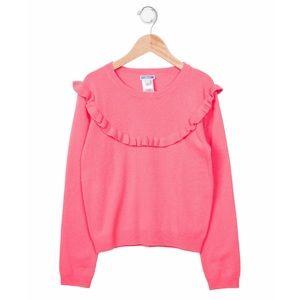 JACADI Girls' Cashmere Ruffle-Accented Sweater